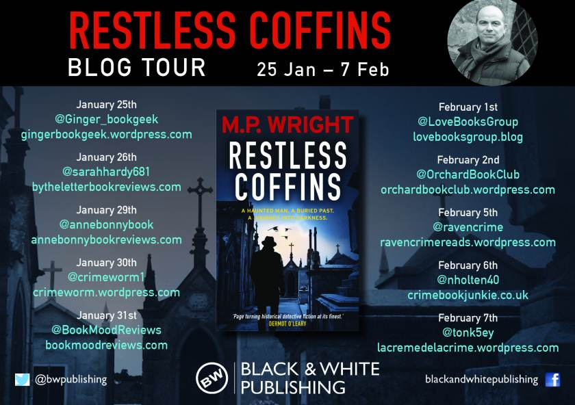 Restless Coffins blog tour banner